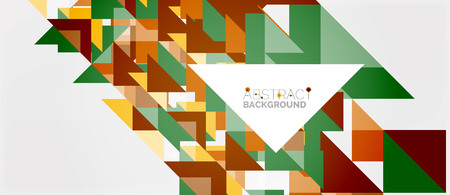 Triangle pattern design background Illustration