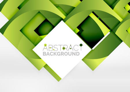 Geometric object in light 3d space, vector abstract background Illustration