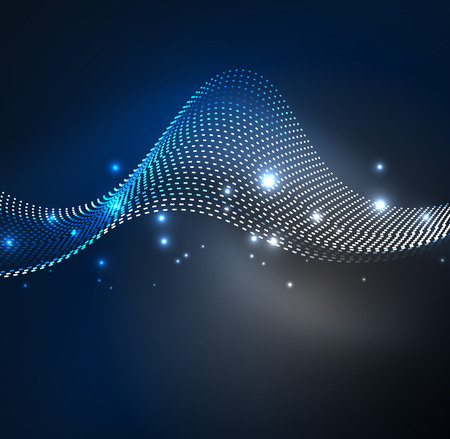 Vector wave particles background
