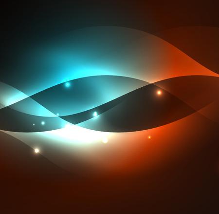 ray of light: Illuminated neon waves