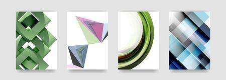 certificate template: Minimal vector covers background set, geometric futurisrtic style