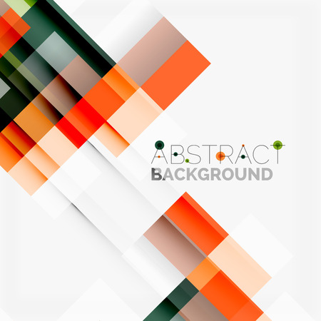 Abstract blocks template design background, simple geometric shapes on white, straight lines and rectangles Zdjęcie Seryjne - 85014732