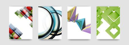 Couvertures minimales de vecteurs d'arrière-plan, style géométrique futurisrtique