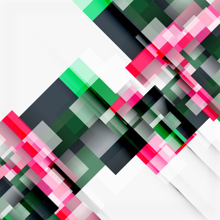 Abstract vector blocks template design background, simple geometric shapes on white, straight lines and rectangles