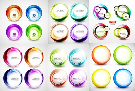 Colección de remolinos y círculos abstractos banners Foto de archivo - 85572289