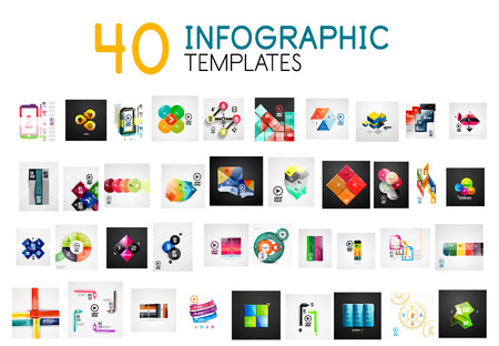Infographic templates. Vector mega collection