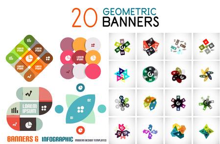 Vector coloridos banners de información geométrica