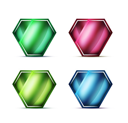 Blank glass buttons, labels or tags.