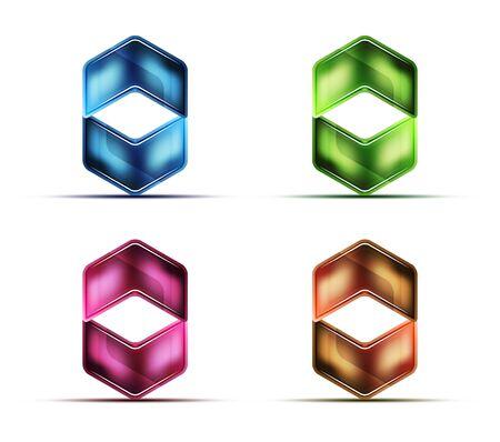 Blank arrow web buttons, matte glossy glass or metallic texture.