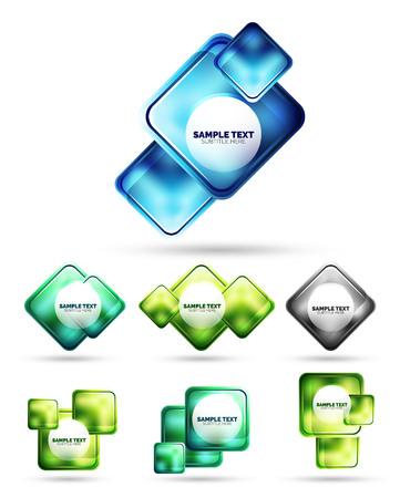 Matte glass square banner design. Minimal hi-tech futuristic banner. Technology shape for poster, cover, banner, placard, flyer, presentation, report
