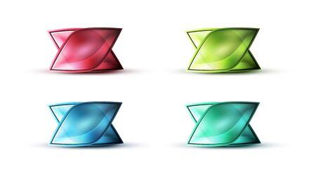 Realistische matte glazen abstract icoon voor bericht.