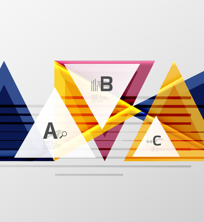 A Triangles and geometric shapes abstract on a white background.