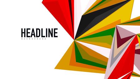 Modern triangular presentation template. Business design , brochure or flyer concept or geometric web banner