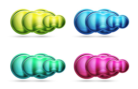 Glass glossy shiny circle round shape, matte realistic material bubble concept with reflection.