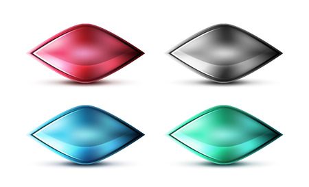 Realistic matte glass abstract icon for message. Price label or tag design, technology web design box, ui button