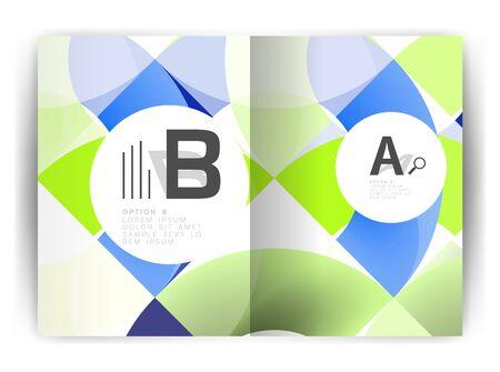 Geometric design report cover print template.