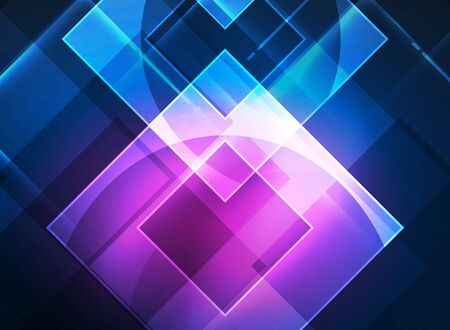 website backgrounds: Glowing squares in the dark, digital abstract background, vector technology hi-tech template