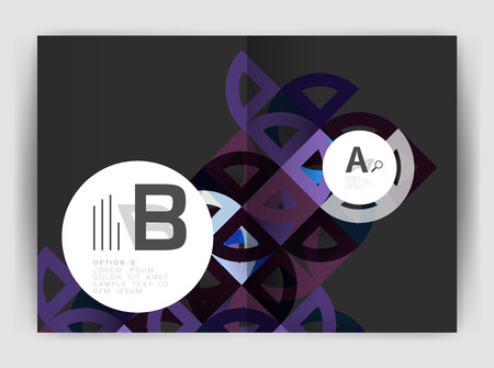 blank magazine: Circle vector abstract backgrounds, annual report business templates. Illustration