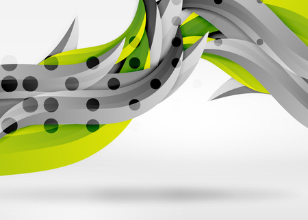 A Vector colorful wave lines in white and grey 3d space. Illustration