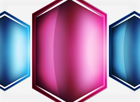 Glossy glass shapes abstract background. Illustration