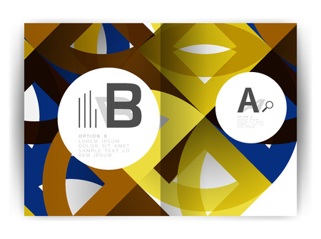blank magazine: Geometric annual report cover print template.
