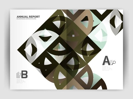 blank magazine: Circle vector abstract backgrounds, annual report business templates