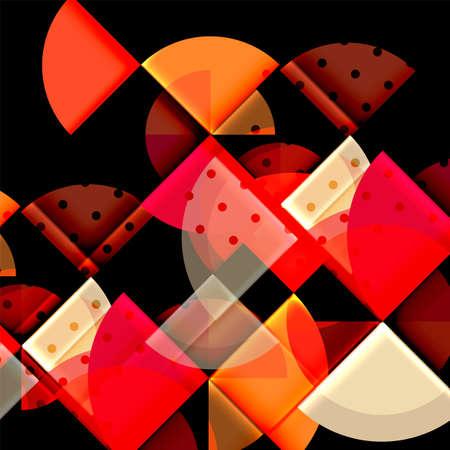 swirl: Geometric circle abstract banner. Vector illustration