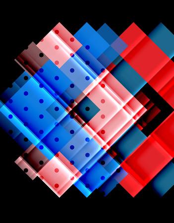 Color arrows on black background. Vector illustration Illustration