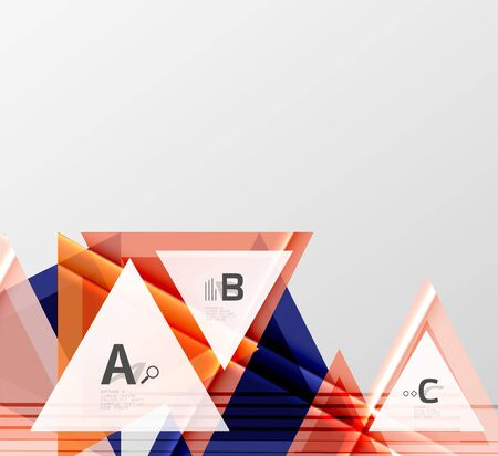 Colorful abstract shapes background. Minimalistic design Illustration