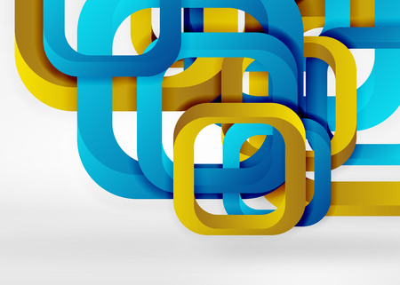 Modern geometric presentation template design for web banner layouts.