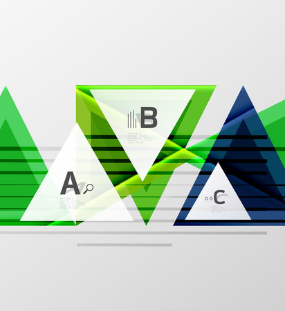 A triangles and geometric shapes abstract background.
