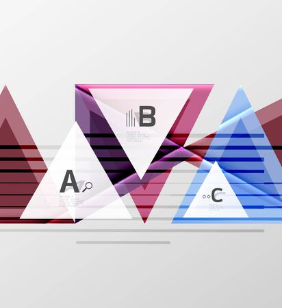 Colorful abstract shapes on white backdrop. Illustration