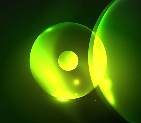 futuristic: Blurred glowing circles, digital abstract background