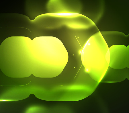 modern business: Blurred transparent hexagons on dark, digital abstract. Illustration