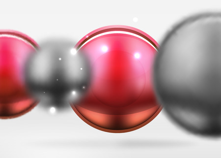 Glossy spheres icon. Illustration