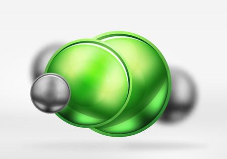 platinum: Metallic blurred spheres icon.