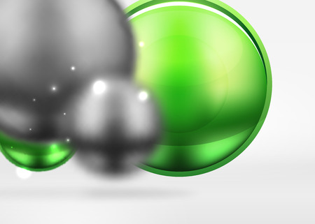 Metallic blurred spheres icon.