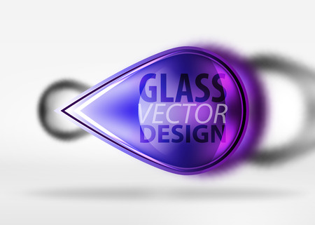 Abstract background, glass minimal round and arrow shapes in 3d space with blurred effects Illustration