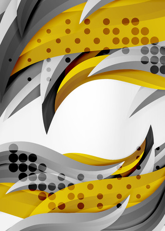 Colorful wave lines in white and grey 3d space.
