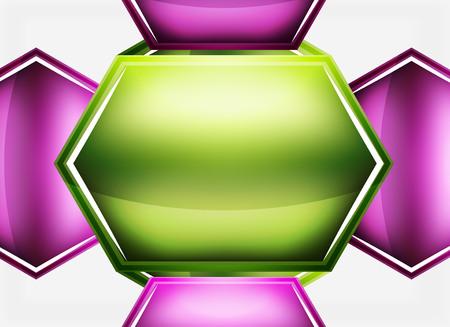 Glossy glass shapes. Illustration