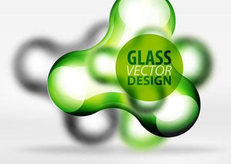 3D glass illustration.