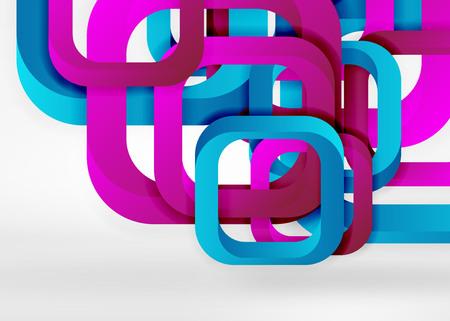 Squares geometric shapes. Illustration