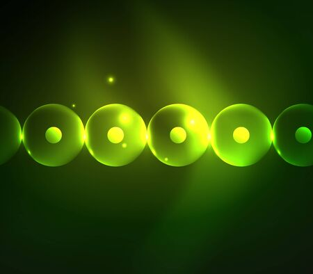 Blurred glowing circles on digital abstract.