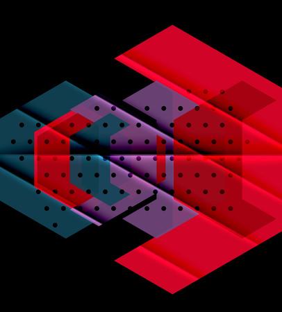 Color triangles background design