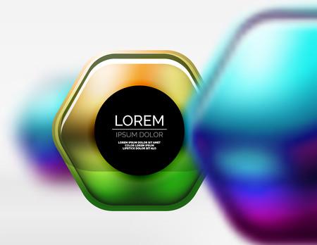 Metallic realistic texture on 3d hexagons, digital backdrop.