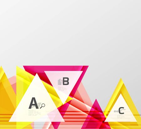 Colorful abstract shapes background