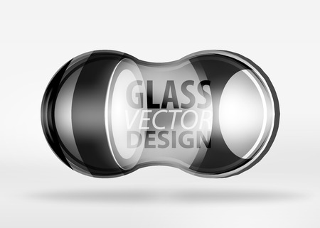 3d techno glass bubble design, vector future hi-tech shapes with blurred effects Illustration