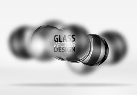 Techno glass bubble design illustration. Illustration