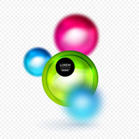 Sphere 3d vector banner, abstract background
