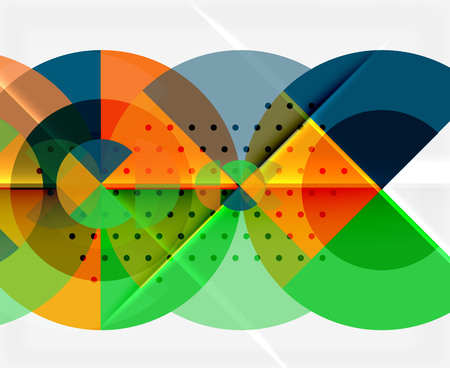 Geometric circle abstract banner